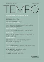 Tempo Volume 70 - Issue 277 -