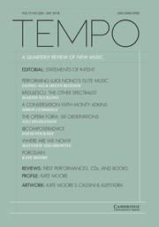 Tempo Volume 72 - Issue 285 -
