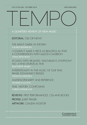 Tempo Volume 72 - Issue 286 -