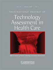 International Journal of Technology Assessment in Health Care Volume 25 - Issue 1 -