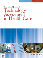 International Journal of Technology Assessment in Health Care Volume 26 - Issue 1 -
