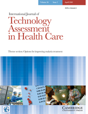 International Journal of Technology Assessment in Health Care Volume 26 - Issue 2 -