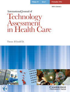 International Journal of Technology Assessment in Health Care Volume 30 - Issue 5 -