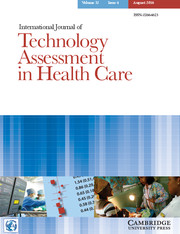 International Journal of Technology Assessment in Health Care Volume 32 - Issue 4 -