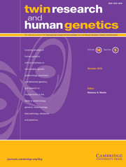 Twin Research and Human Genetics Volume 18 - Issue 5 -