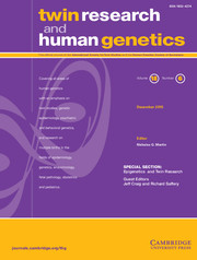 Twin Research and Human Genetics Volume 18 - Issue 6 -