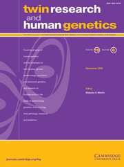 Twin Research and Human Genetics Volume 19 - Issue 6 -