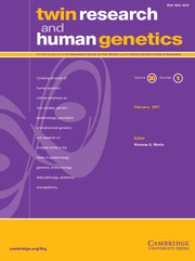 Twin Research and Human Genetics Volume 20 - Issue 1 -