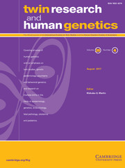 Twin Research and Human Genetics Volume 20 - Issue 4 -