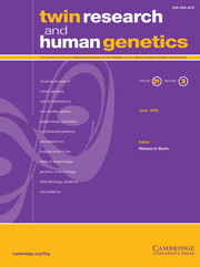 Twin Research and Human Genetics Volume 21 - Issue 3 -
