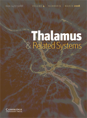 Thalamus & Related Systems Volume 4 - Issue 1 -