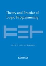 Theory and Practice of Logic Programming Volume 7 - Issue 5 -