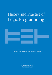 Theory and Practice of Logic Programming Volume 9 - Issue 6 -
