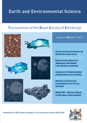 Earth and Environmental Science Transactions of The Royal Society of Edinburgh Volume 105 - Issue 1 -