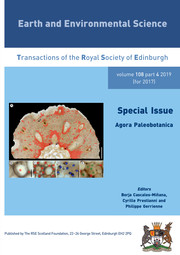 Earth and Environmental Science Transactions of The Royal Society of Edinburgh Volume 108 - Issue 4 -  Agora Paleobotanica
