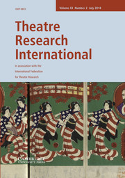 Theatre Research International Volume 43 - Issue 2 -