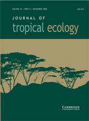Journal of Tropical Ecology Volume 24 - Issue 6 -