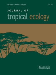 Journal of Tropical Ecology Volume 26 - Issue 4 -