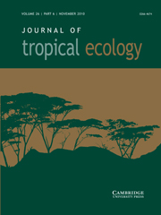 Journal of Tropical Ecology Volume 26 - Issue 6 -