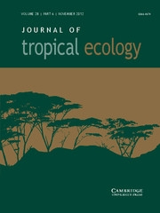 Journal of Tropical Ecology Volume 28 - Issue 6 -