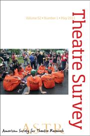 Theatre Survey Volume 52 - Issue 1 -