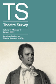 Theatre Survey Volume 61 - Issue 1 -