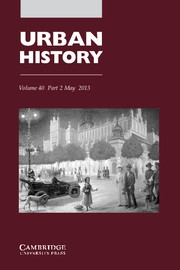 Urban History Volume 40 - Issue 2 -