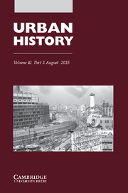 Urban History Volume 42 - Issue 3 -