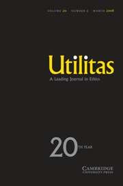 Utilitas Volume 20 - Issue 1 -