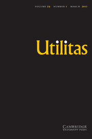 Utilitas Volume 29 - Issue 1 -