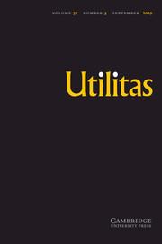 Utilitas Volume 31 - Issue 3 -