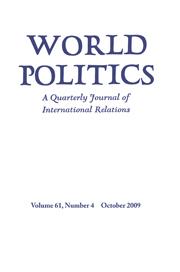 World Politics Volume 61 - Issue 4 -