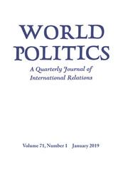 World Politics Volume 71 - Issue 1 -