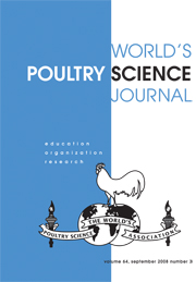 World's Poultry Science Journal Volume 64 - Issue 3 -