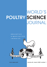 World's Poultry Science Journal Volume 65 - Issue 1 -