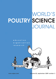 World's Poultry Science Journal Volume 65 - Issue 3 -