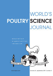 World's Poultry Science Journal Volume 67 - Issue 3 -
