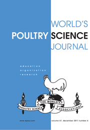 World's Poultry Science Journal Volume 67 - Issue 4 -