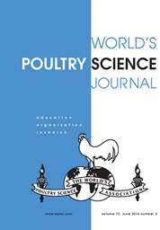 World's Poultry Science Journal Volume 70 - Issue 2 -