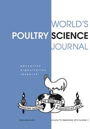 World's Poultry Science Journal Volume 70 - Issue 3 -