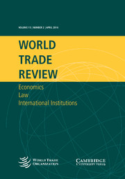 World Trade Review Volume 15 - Issue 2 -