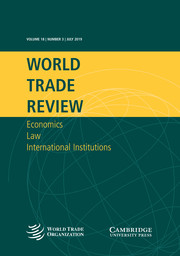 World Trade Review Volume 18 - Issue 3 -