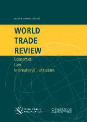 World Trade Review Volume 4 - Issue 2 -