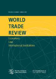 World Trade Review Volume 6 - Issue 1 -