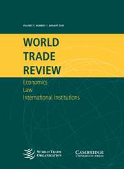 World Trade Review Volume 7 - Issue 1 -