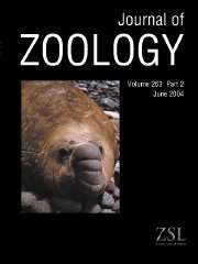 Journal of Zoology Volume 263 - Issue 2 -