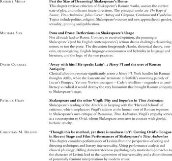 Abstracts of Articles in Shakespeare Survey 69 - Shakespeare