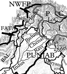 West and East Pakistan and India following Independence