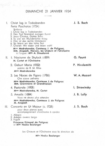 The Work In History Part Ii The Musical Work Of Nadia Boulanger