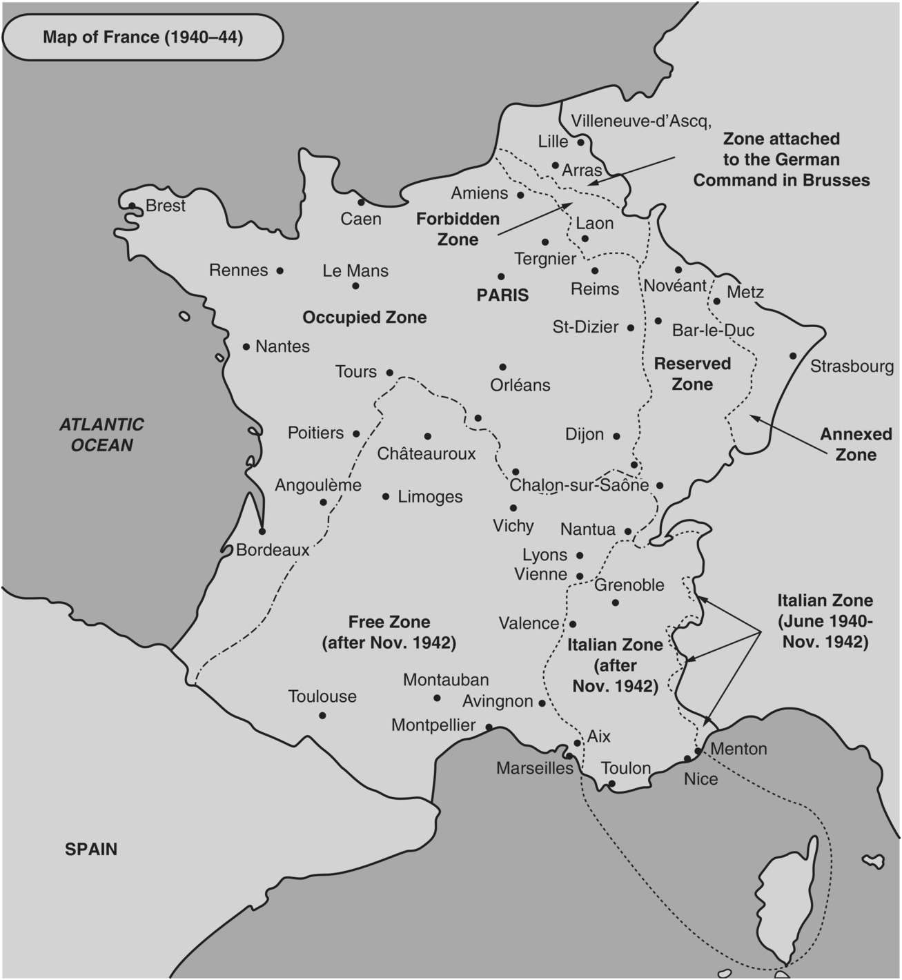 Montpellier On Map Of France.Maps Ordinary Workers Vichy And The Holocaust